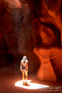Sunbeam Girl Antelope Canyon Page, Arizona