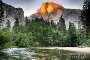 Fishing the Merced River Yosemite National Park, California